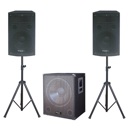 SUBWOOFER 15 inch+2 SATELITI 12inch+2 STAND BOXE Cube15A